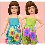Nika Dress Toddlers Sims 4 CC
