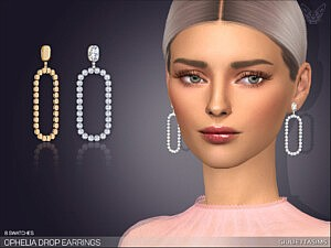 Ophelia Drop Earrings sims 4 cc