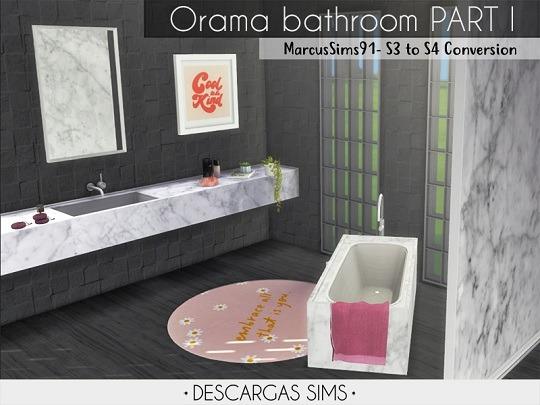 Orama bathroom Sims 4 Cc