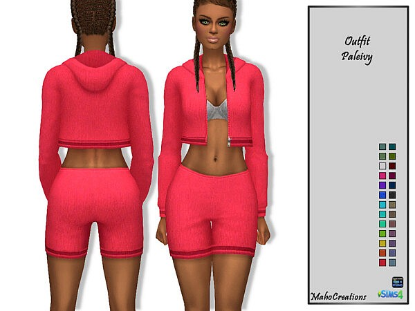Outfit Paleivy Sims 4 CC