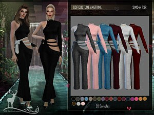 Outfite Ametrine Sims 4 CC