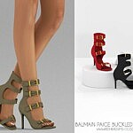 Paige Buckled Sandals sims 4 cc