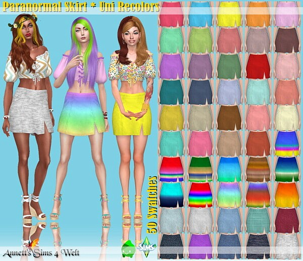 Paranormal Skirt Sims 4 CC1