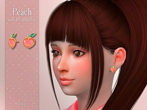 Peach Child Earrings by Suzue