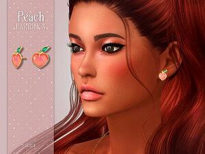 Peach Earrings by Suzue