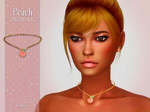 Peach Necklace by Suzue