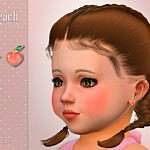 Peach Earrings T by Suzue