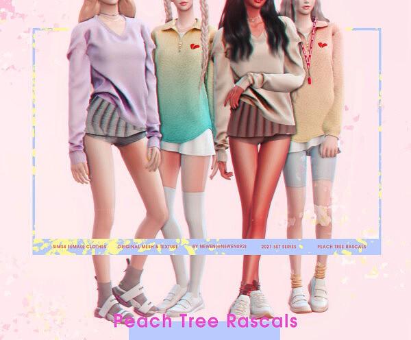 Peach Tree Rascals Collection sims 4 cc