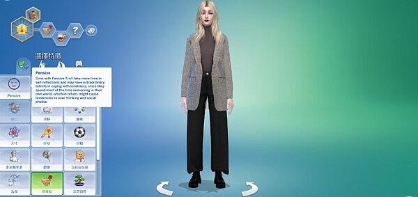 Pensive Sims 4 Trait