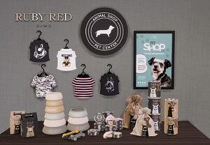 Pet Shop Set Sims 4 CC