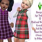 Plaid and Wool Dress