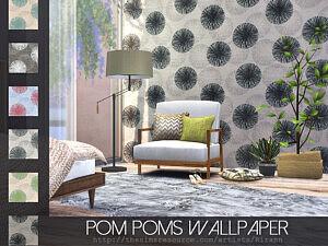 Pom Poms Wallpaper Sims 4 CC