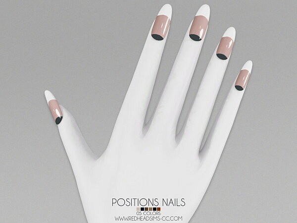 Position Nails from Red Head Sims