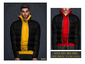 Puffer Jacket With Sweater by OranosTR