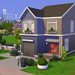 Red Blue Villa sims 4 cc