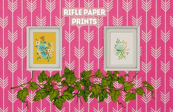 Rifle paper prints Sims 4 CC