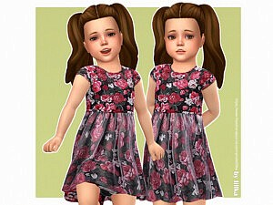 Rosie Dress Toddlers sims 4 cc