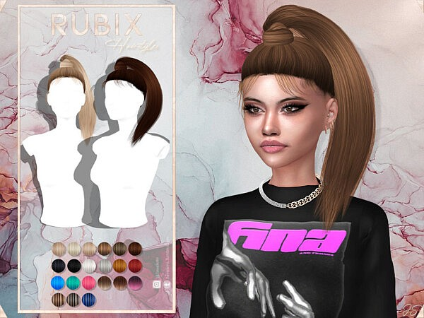 Rubix Hair sims 4 cc