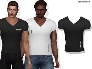 Ryan V neck Shirt sims 4cc