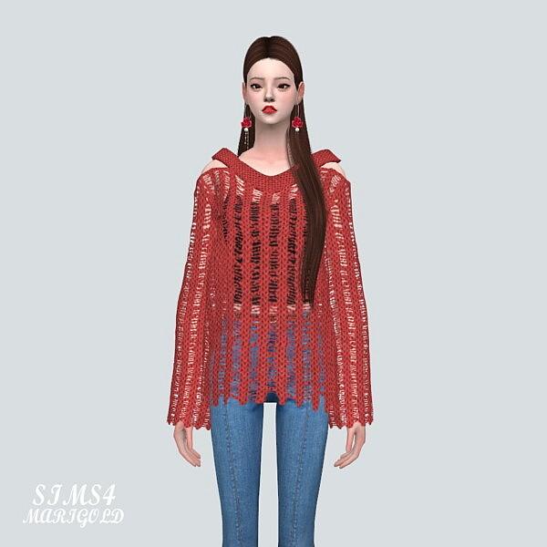 ST Mesh Sweater sims 4 cc