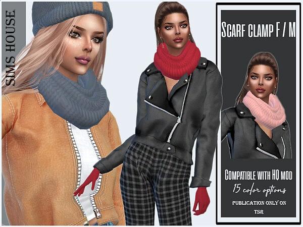 Scarf clamp Sims 4 CC