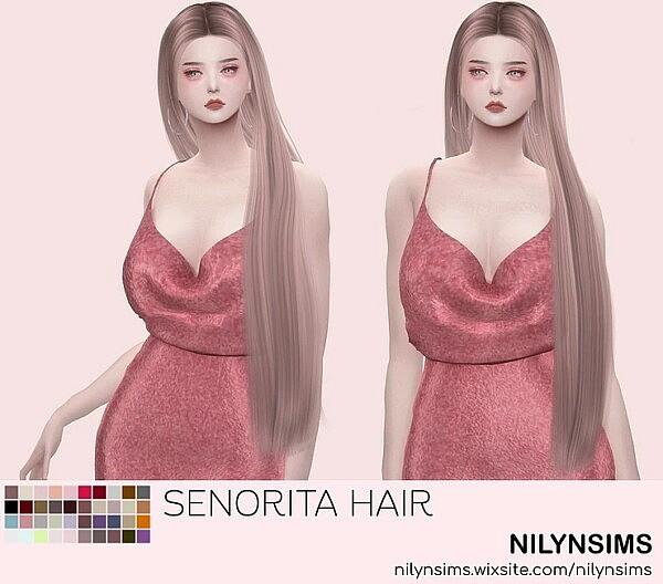 Seniorita hair from Nilyn Sims 4