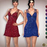 Sequin Double-Strap Cocktail Dress by Harmonia
