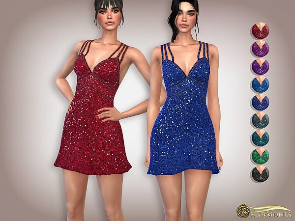 Sequin Double Strap Cocktail Dress by Harmonia from TSR