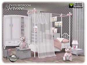 Serene kids bedroom sims 4 cc
