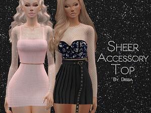 Sheer Accessory Top sims 4 cc