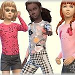 Shirt Girl Sims 4 CC