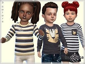Shirt Little Tiger Sims 4 CC