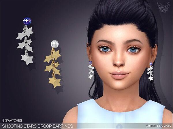 Shooting Stars Drop Earrings For Kids sims 4 cc