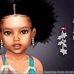 Shooting Stars Drop Earrings For Toddlers sims 4 cc