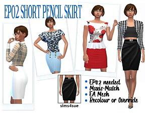 Short Pencil Dress Sims 4 CC
