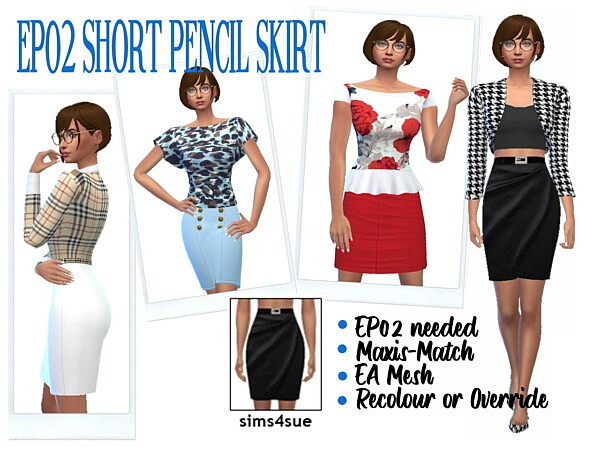 Short Pencil Skirt from Sims 4 Sue