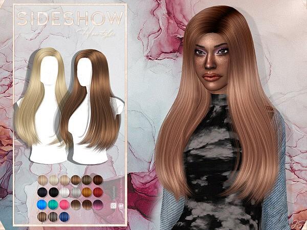 Side Show Hair sims 4 cc