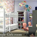 Simple Girls room sims 4 cc