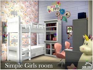 Simple Girls room sims 4 cc