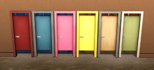 Simple Toilet Stall Door by BlueHorse