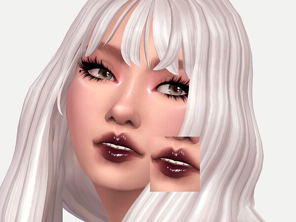 Sims 4 Black Currant Lipgloss