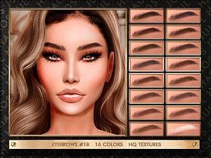 Sims 4 CC Eyebrows 18