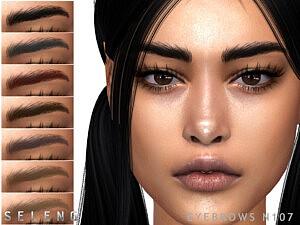 Sims 4 CC Eyebrows N107