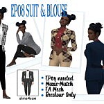 Sims 4 CC Suit and Blouse