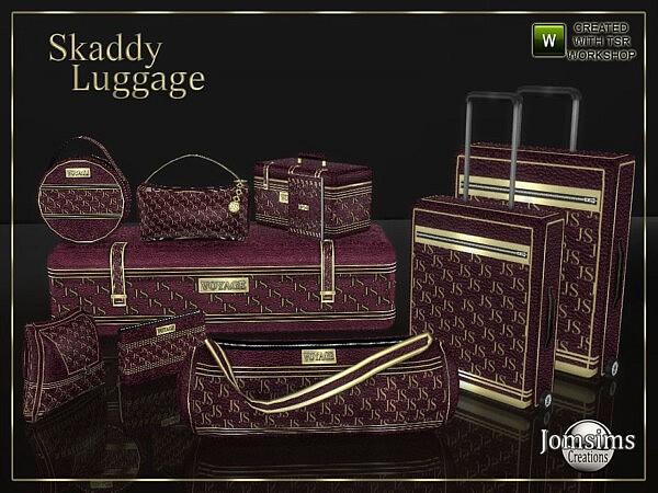 Skaddy luggage sims 4 cc