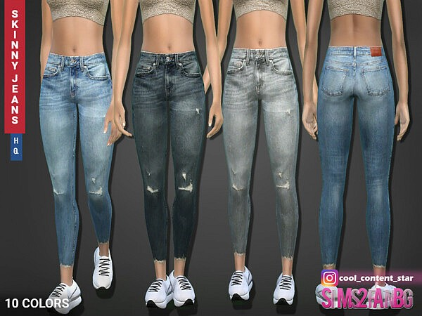 Skinny Length Jeans Sims 4 CC