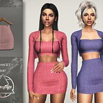 Sloan Set Skirt by Camuflaje