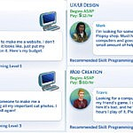 Software Engineer Odd Jobs Pack Sims 4 CC
