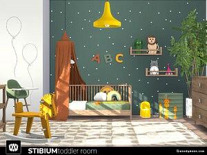 Stibium Toddler Room sims 4 cc