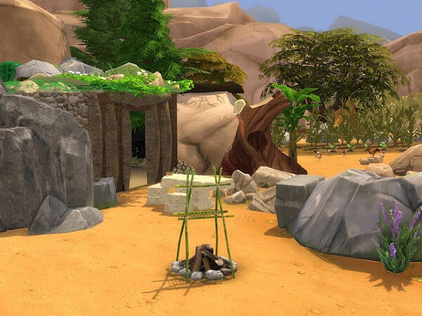 Stoneage Second Home Sims 4 Lots